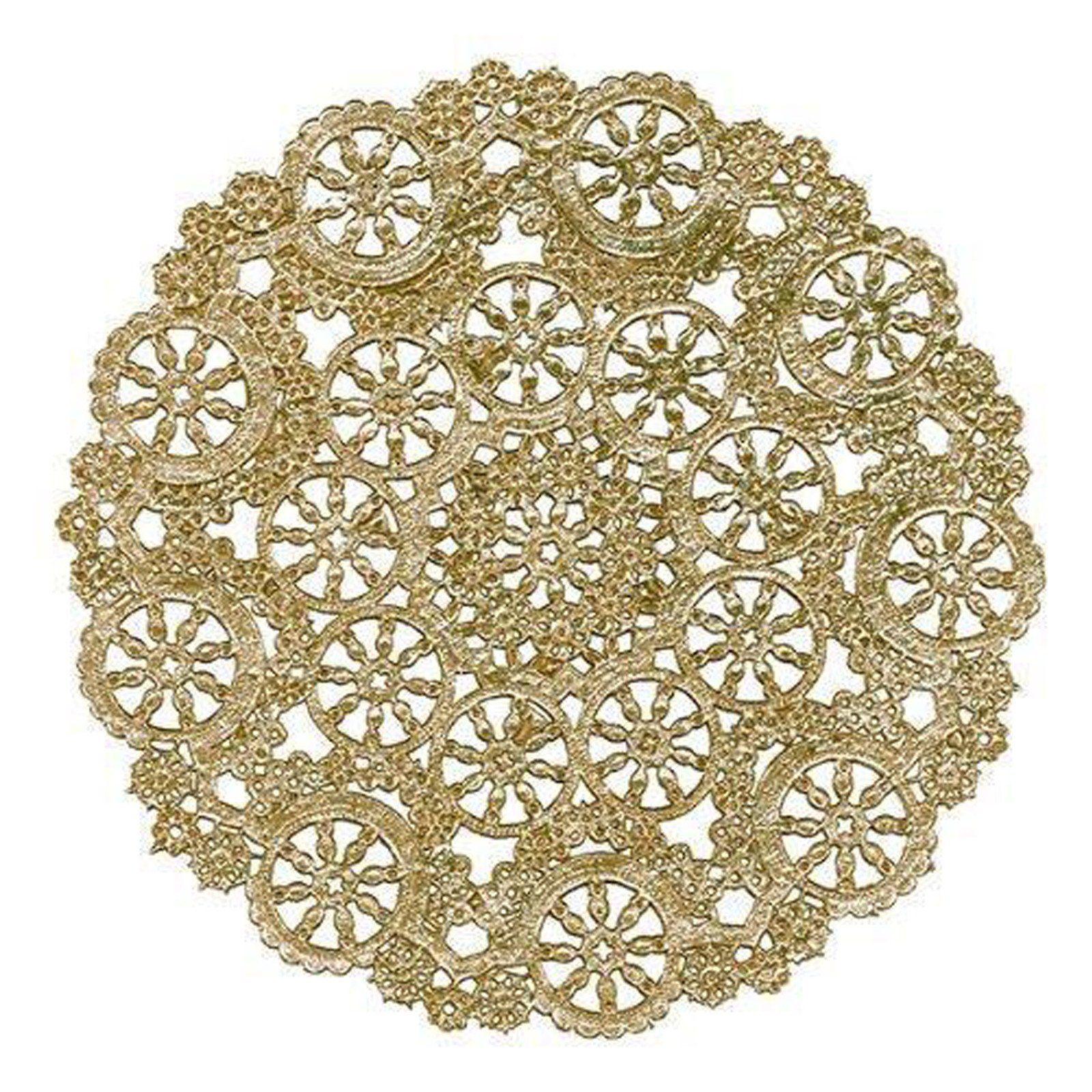Gold Medallion Paper Doilies 4 6 8 10 12 Gold Chargers Invitation Doilies Placemat Doilies Paper Doilies Gold Foil Paper Paper Lace Doilies