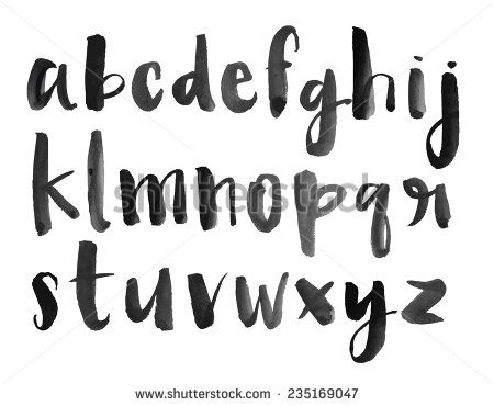 Modern Vector Watercolor Alphabet Watercolor Font Abc Painted