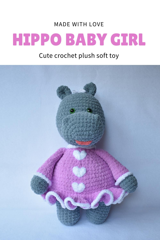 birthday gift by VSHandmadeLV crochet amigurumi plush with floppy ears stuffed animal Great baby shower gift Cute bunny baby soft toy