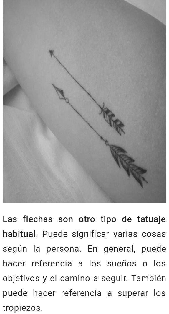 Significado Flechas Tattoo Ideas Tattoos Pinterest Flechas