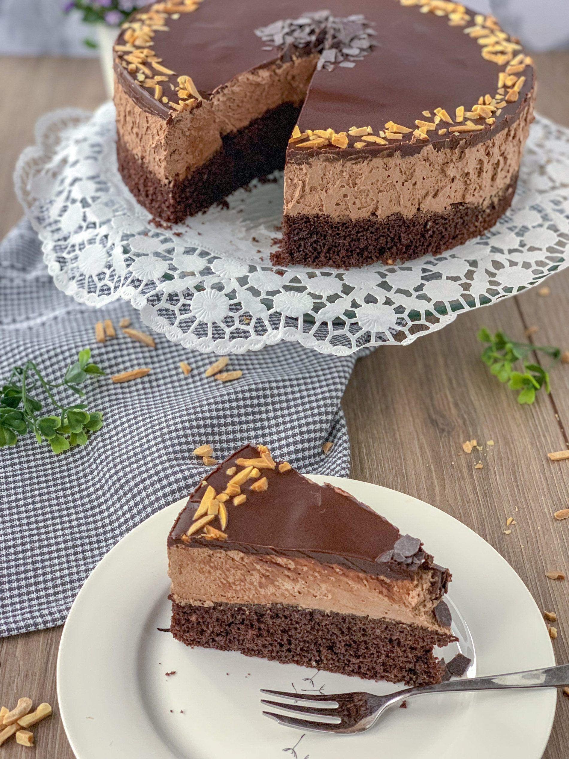 Mousse au chocolat Torte #lemonblueberrycheesecake
