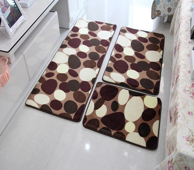 Zeegle 3d Embossed 2pcs Bathroom Mat Set Anti Slip Shower Mat