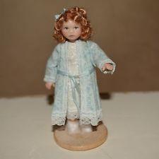 miniature porcelain doll girl 1:12 dollhouse