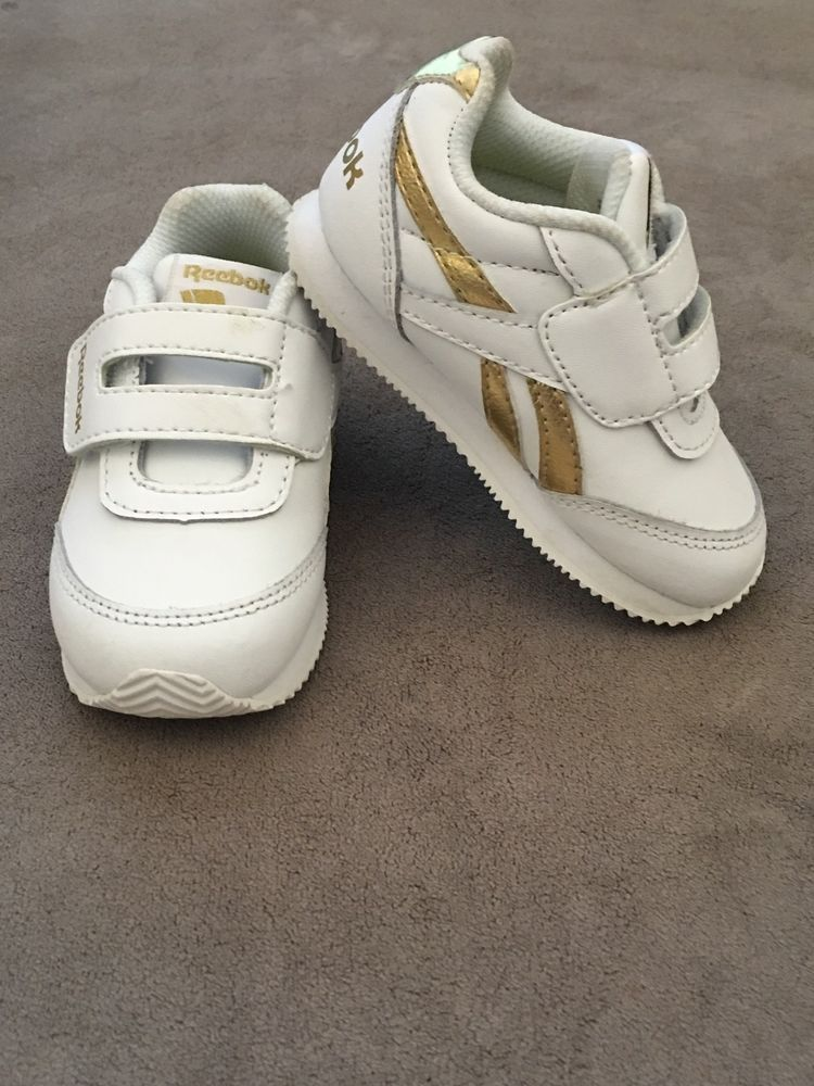 Reebok Classic White   Gold Leather Sneaker For Infant Toddler Size 5   fashion  clothing  shoes  accessories  babytoddlerclothing  babyshoes  (ebay link) 062b701e4