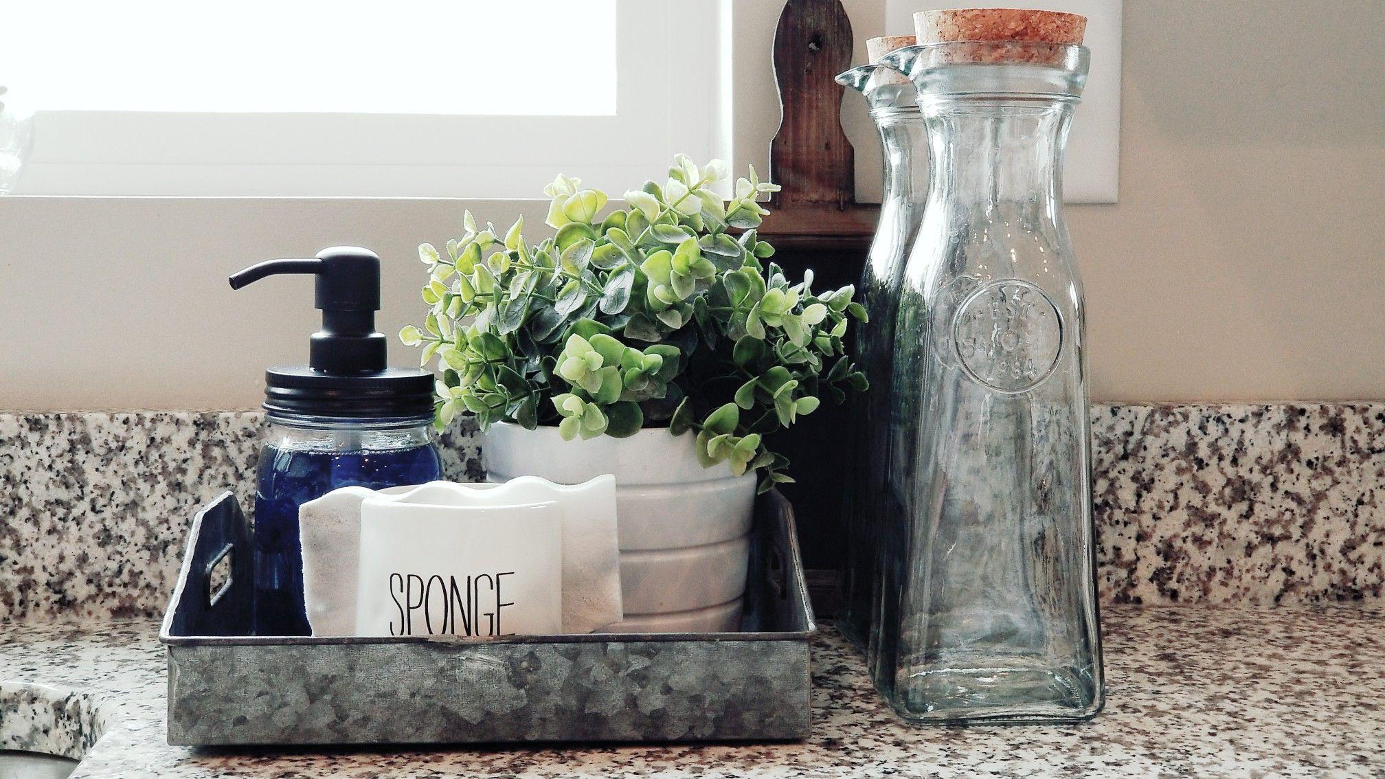 Sink Caddy, Jarmazing Soap Dispenser, Ikea Plant, Sponge