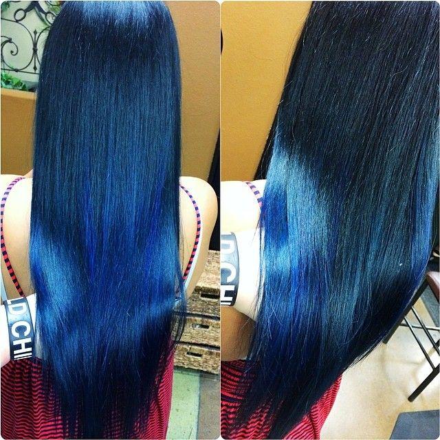 Blue Hair Wella And Pravana Hair Bright Hair Colors Hair Color