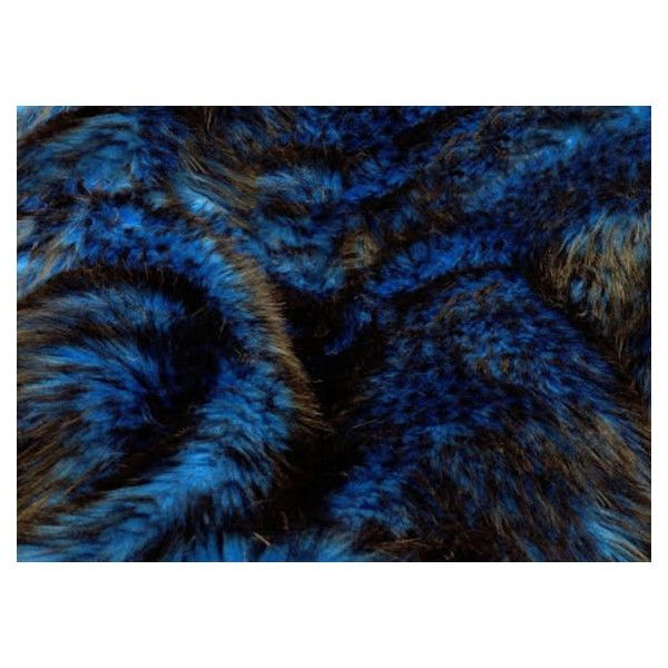 8 X 10 Husky Blue Fur Faux Fur Rug Rectangle Shape Plush