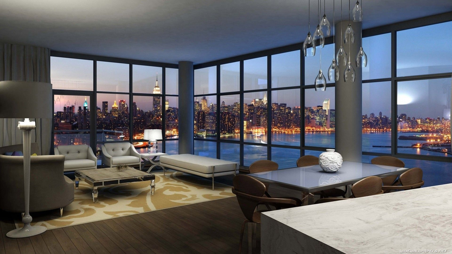Beautiful View Nyc House Jersey Design Interior Living ...