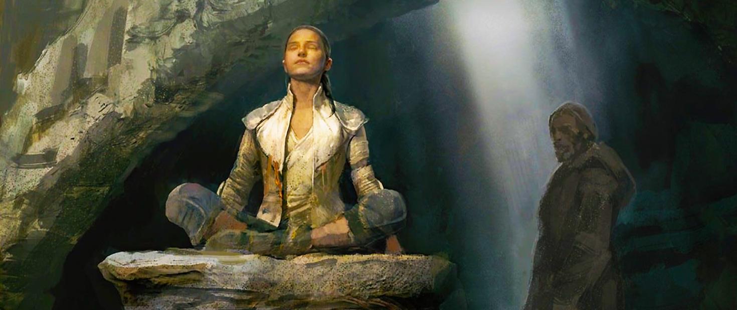 """""""Rey in meditation"""" - Concept Art #starwars # ..."""
