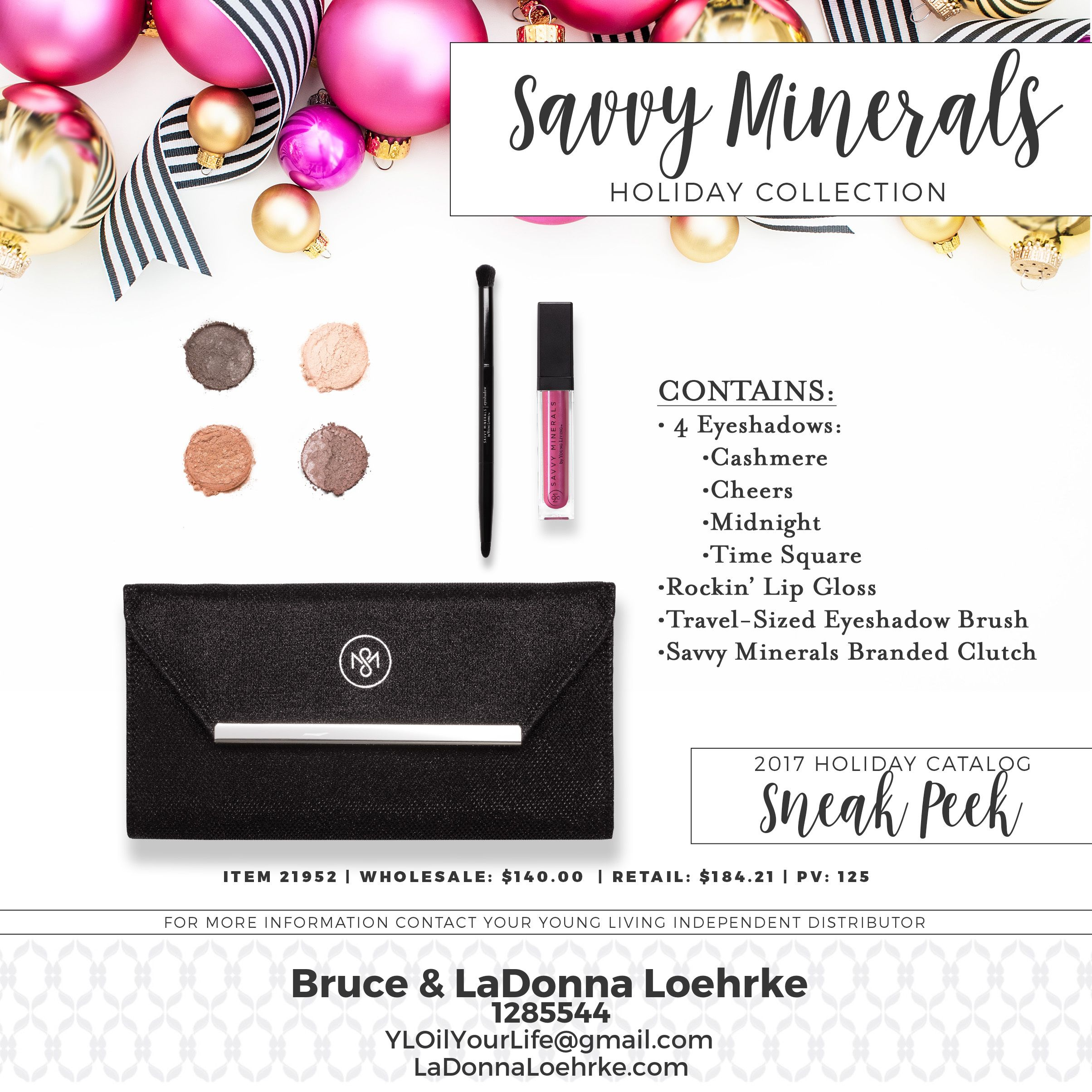 Savvy Minerals Holiday Collection. This is a small peak of