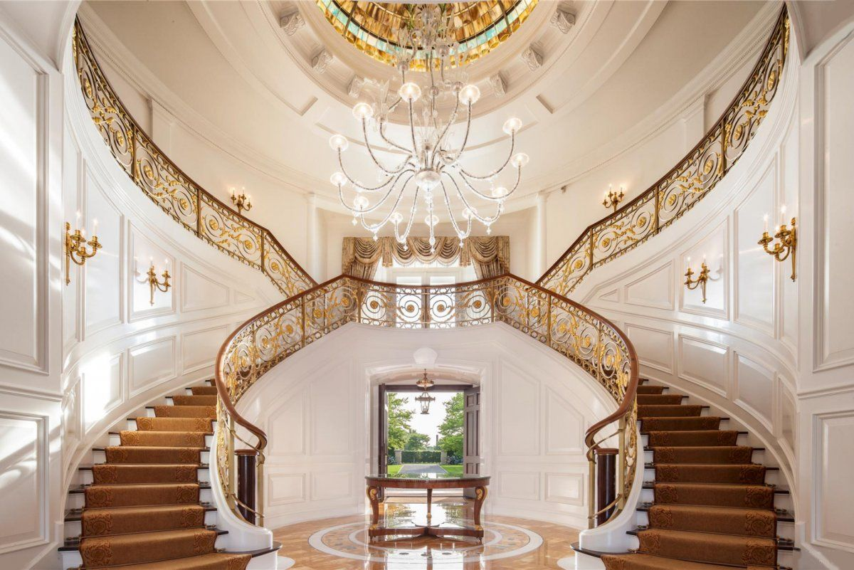 12 glorious mansion staircase designs that are going to for Luxury staircases
