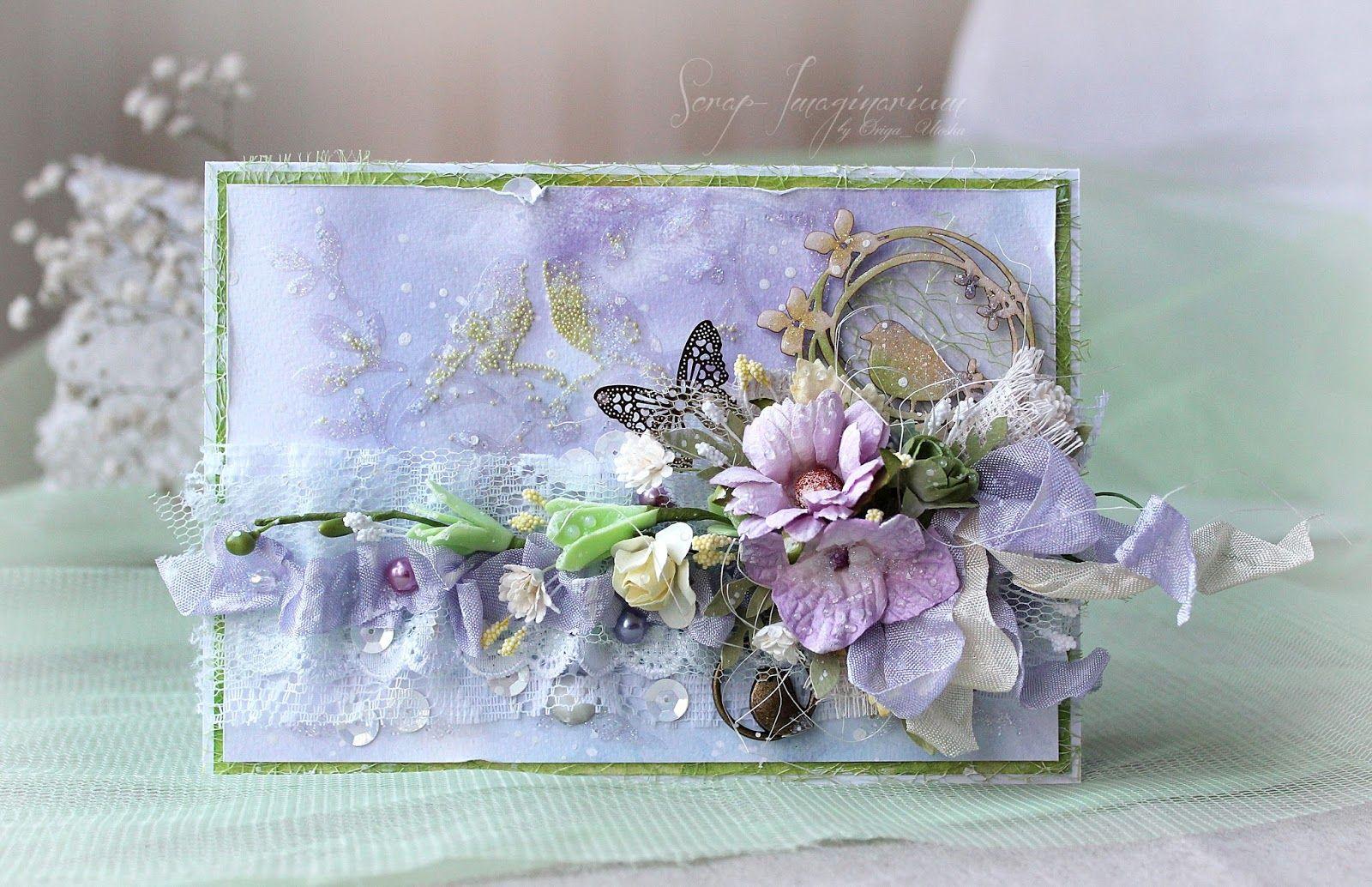 Смотреть надписями, открытка с цветами скрапбукинг мастер