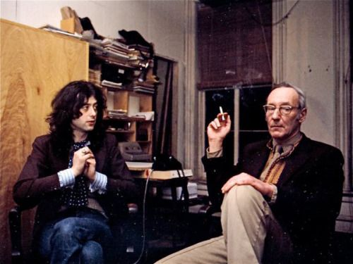 Jimmy Page meets with William S. Burroughs..... (June 1975) http://ift.tt/2htTnWk