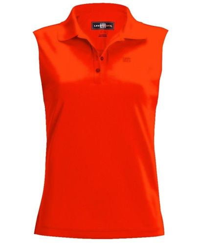 e4220918dd Womens Golfing Shirts by Loudmouth Golf - Essential Fiery Red Sleeveless.  Buy it   ReadyGolf.com