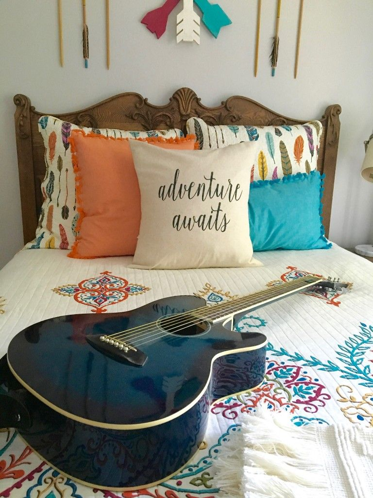 Create A Boho Chic Teen Girls Bedroom With Arrow And Feather Bedding,