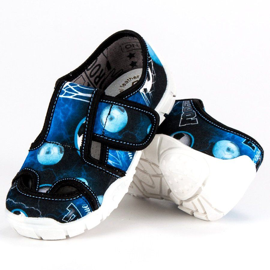 Kapcie Dzieciece Dla Dzieci Raweks Niebieskie Domowe Buty Na Rzep Raweks Baby Shoes Shoes Vibram Sneaker
