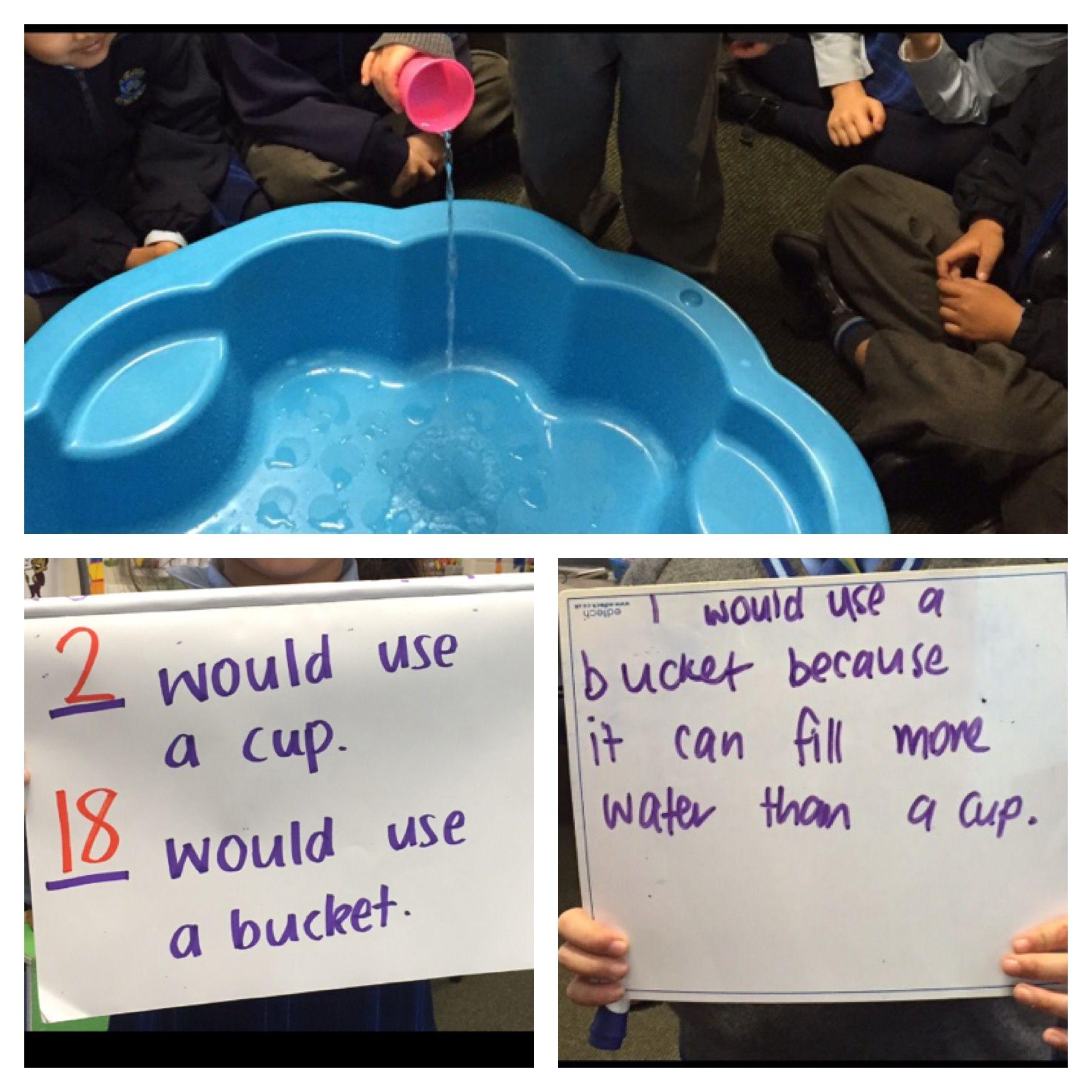 Capacity Kindergarten Lesson Hands On Activity