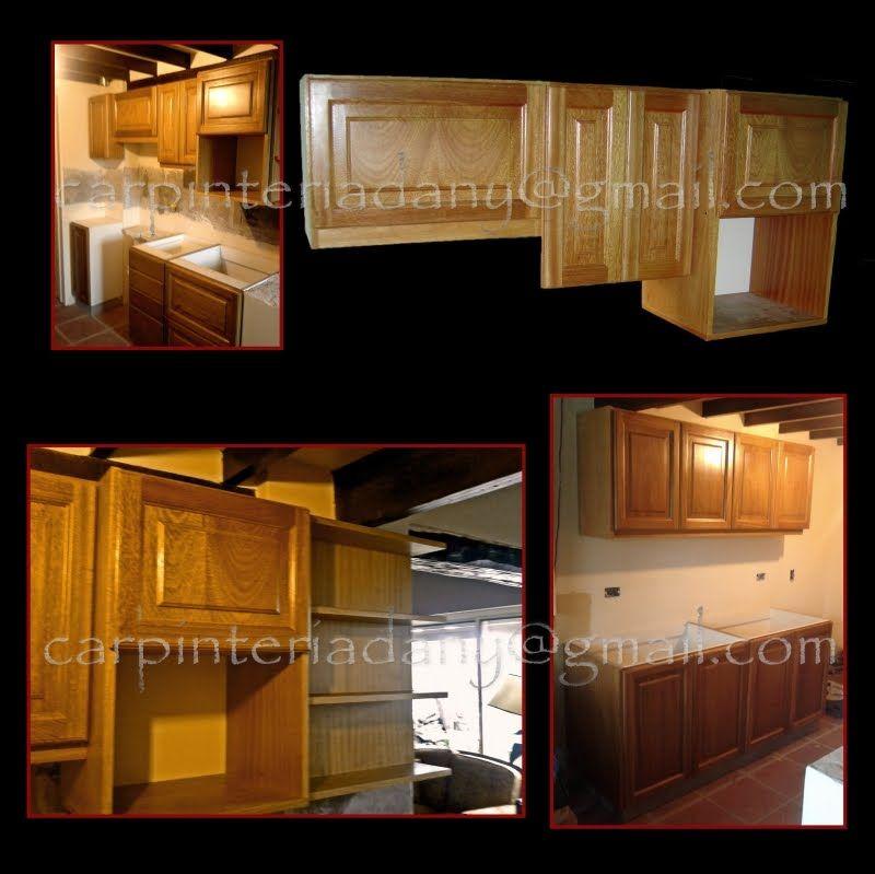 Muebles de cocina en madera de cerejeira lustrada https for Muebles de cocina kitchen