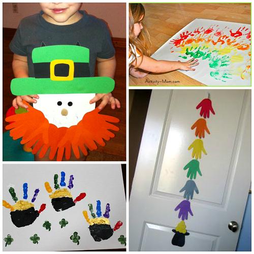 St Patricks Day Crafts: St. Patrick's Day Footprint & Handprint Crafts For Kids