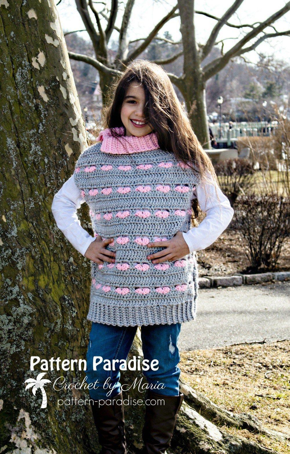 Free crochet pattern sweetheart poncho pattern paradise free crochet pattern sweetheart poncho pattern paradise fandeluxe Gallery