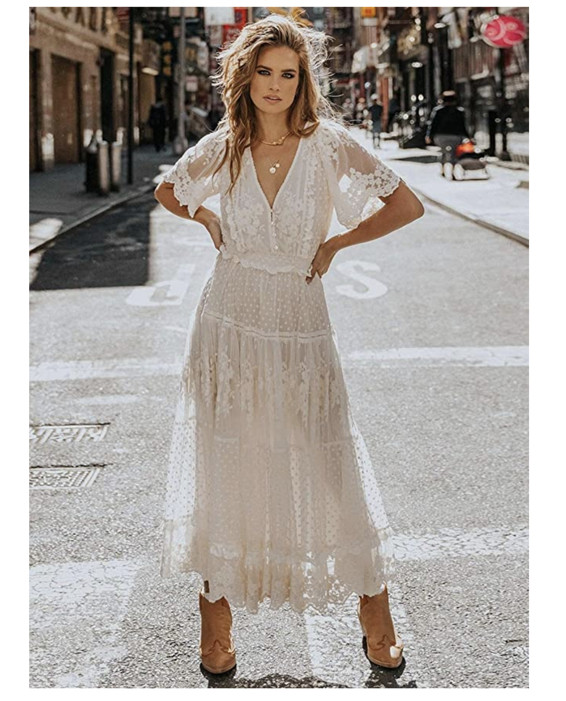 Dresses For Senior Styled Boho Picnic In The Woods Shoot Kyla Jo Photography In 2020 White Boho Dress Maxi Dress Wedding Lace Gown [ 1440 x 1164 Pixel ]
