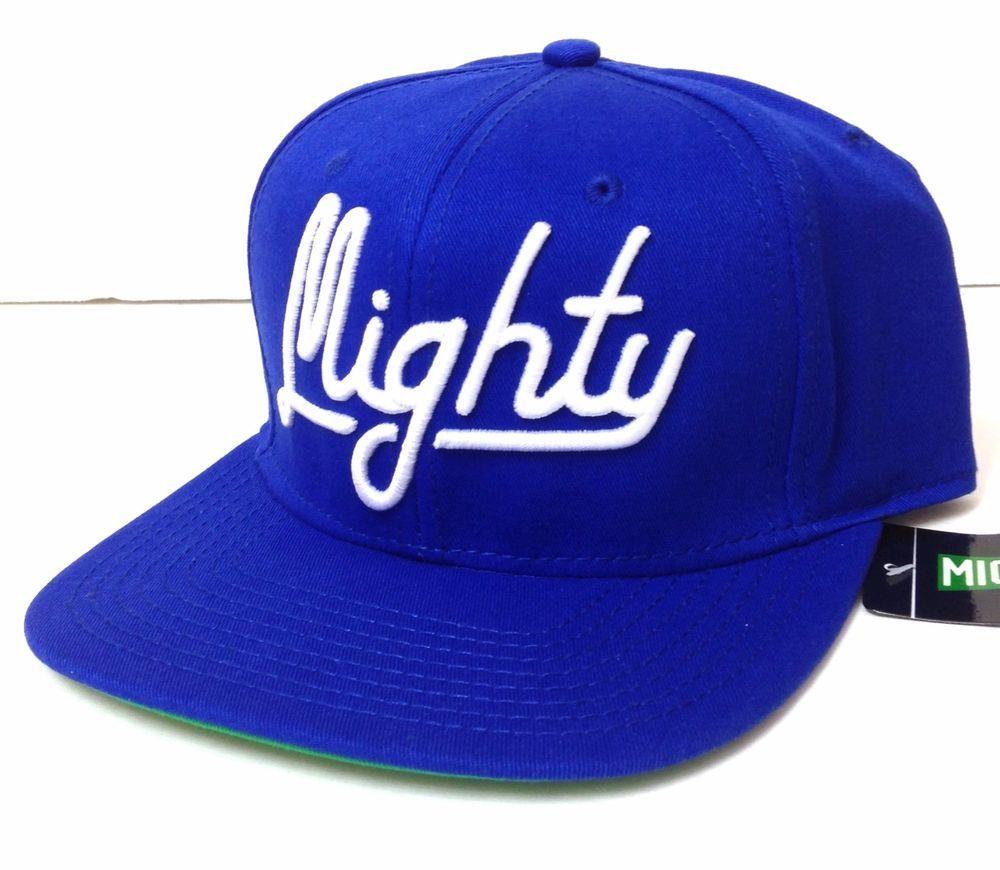 MIGHTY HEALTHY SNAPBACK HAT Royal-Blue White Script Slogan Flat-Bill  Men Women  MightyHealthy  BaseballCap db65888a32fc