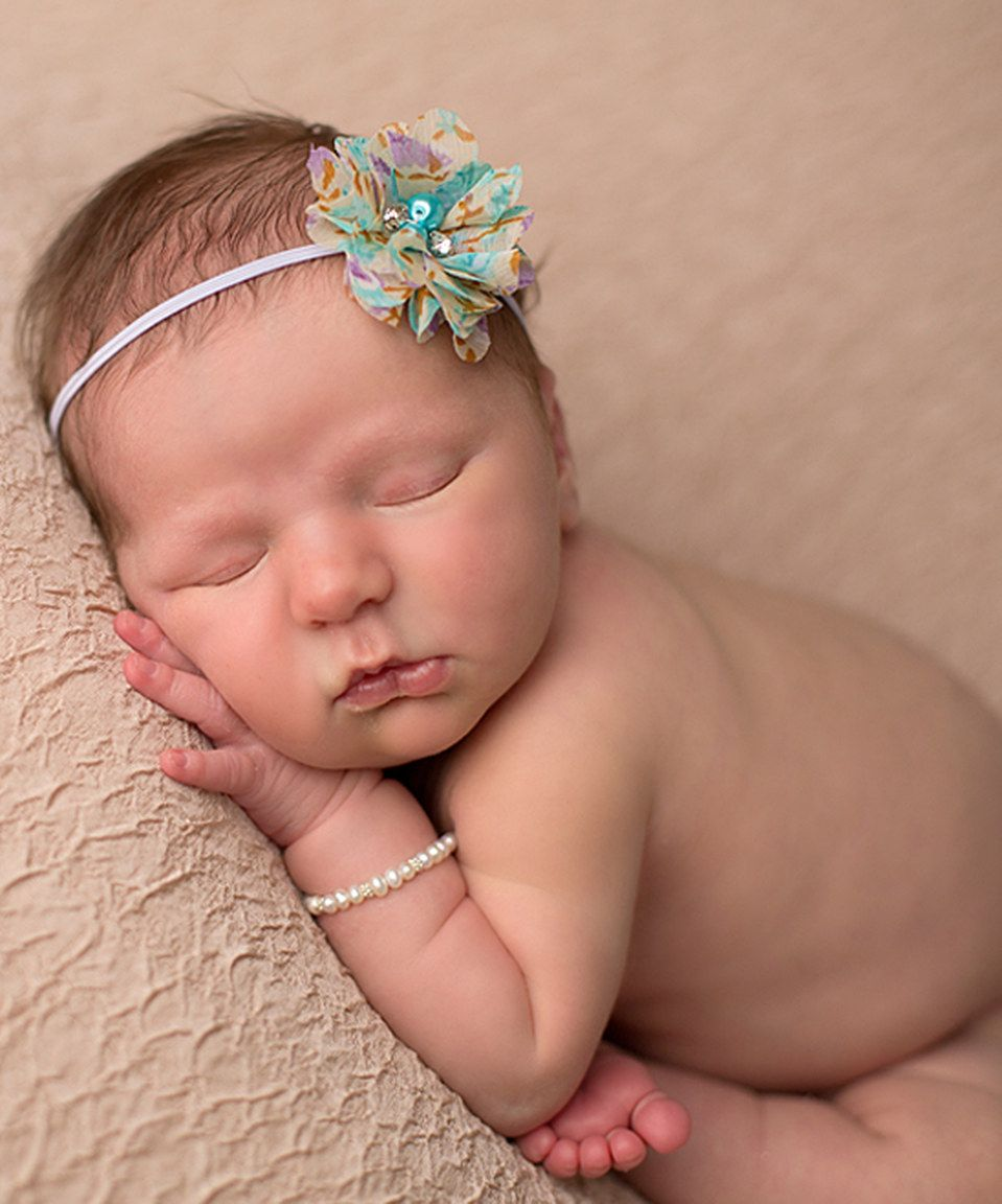 Lavender & Aqua Floral Rhinestone & Pearl Headband by The Tiny Blessings Boutique #zulily #zulilyfinds