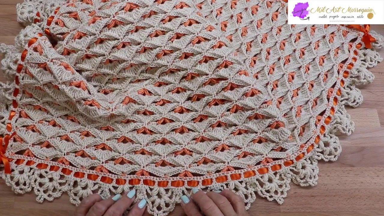 Colcha Manta Crochet para Bebe YouTube | Horgolás minták