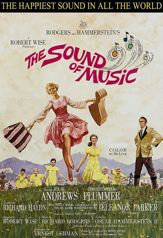 The Sound of Music Musical Movie Poster Print Music Poster The Sound of Music Julie Andrews Rodgers 4 Sizes