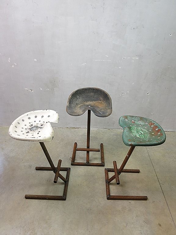 Beautiful Antique Tractor Seat Stool