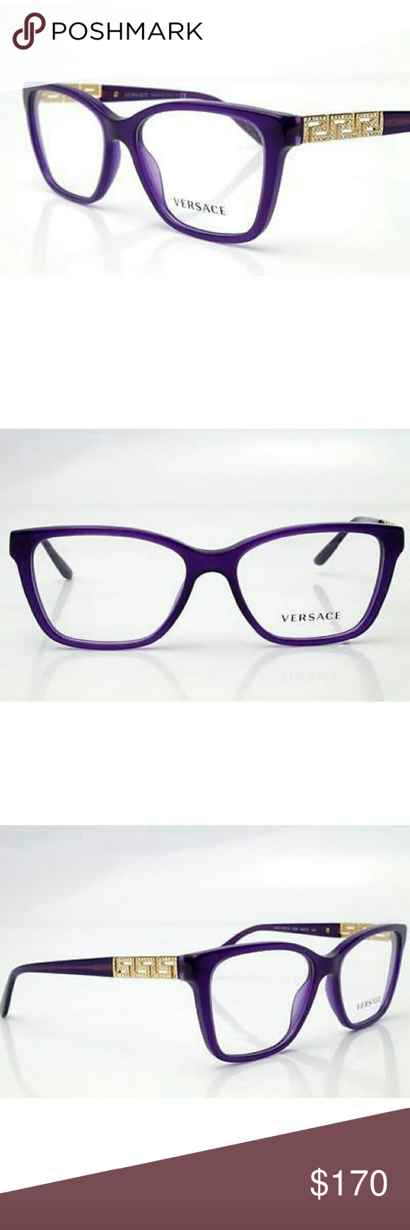 8e653f67d6c Versace Eyeglasses New and authentic Versace Eyeglasses Purple and gold  frame 52mm Original case included Versace Accessories Glasses