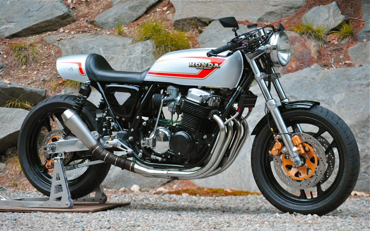 honda cb750f cafe racertom law - outlaw custom motors