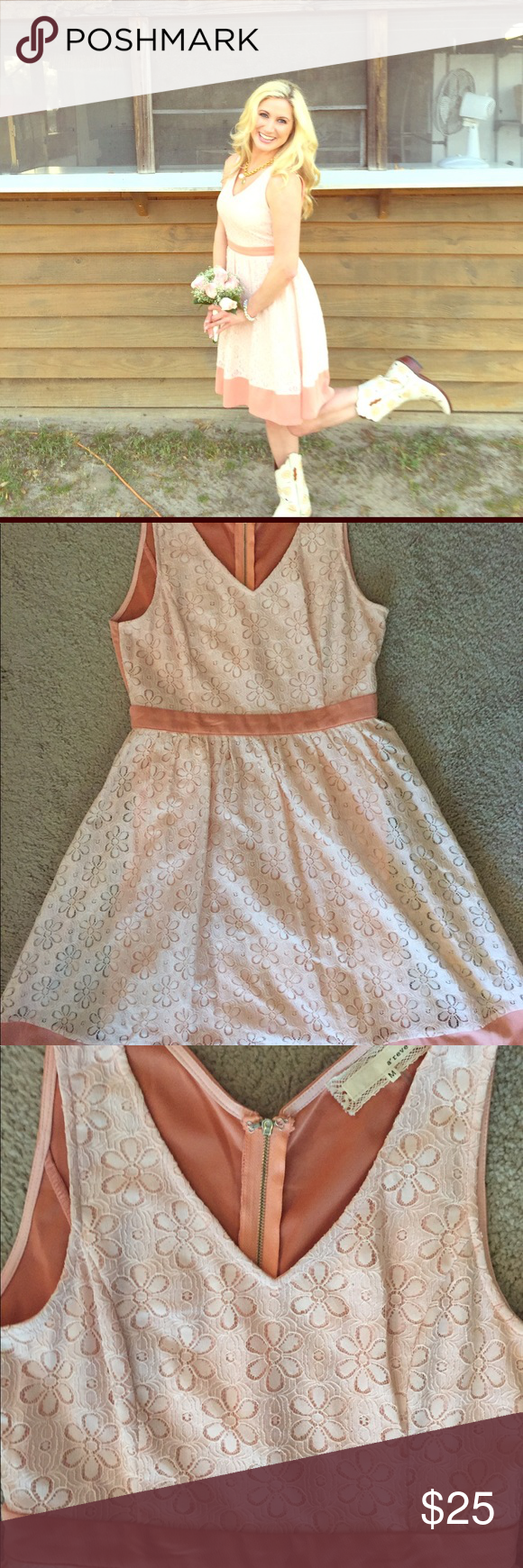 Light pink dress this eyelet light pink dress is perfect for a