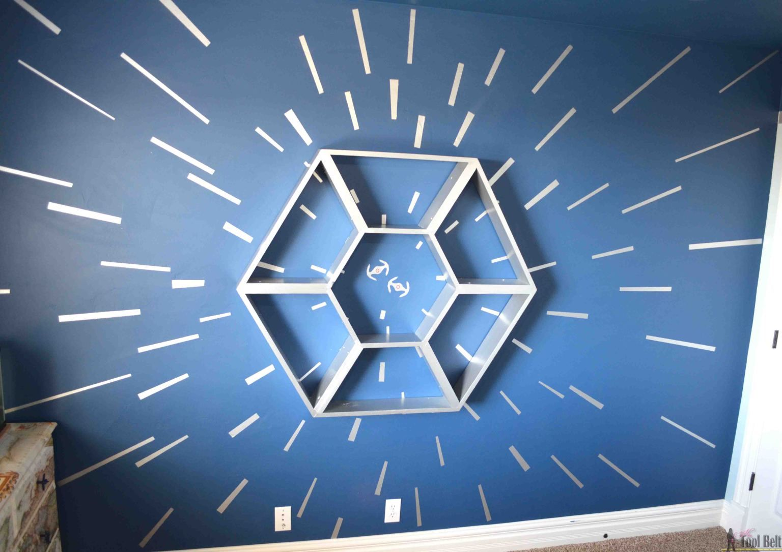 Star Wars Shelf and Hyperspace Wall | Walls | Modern ...