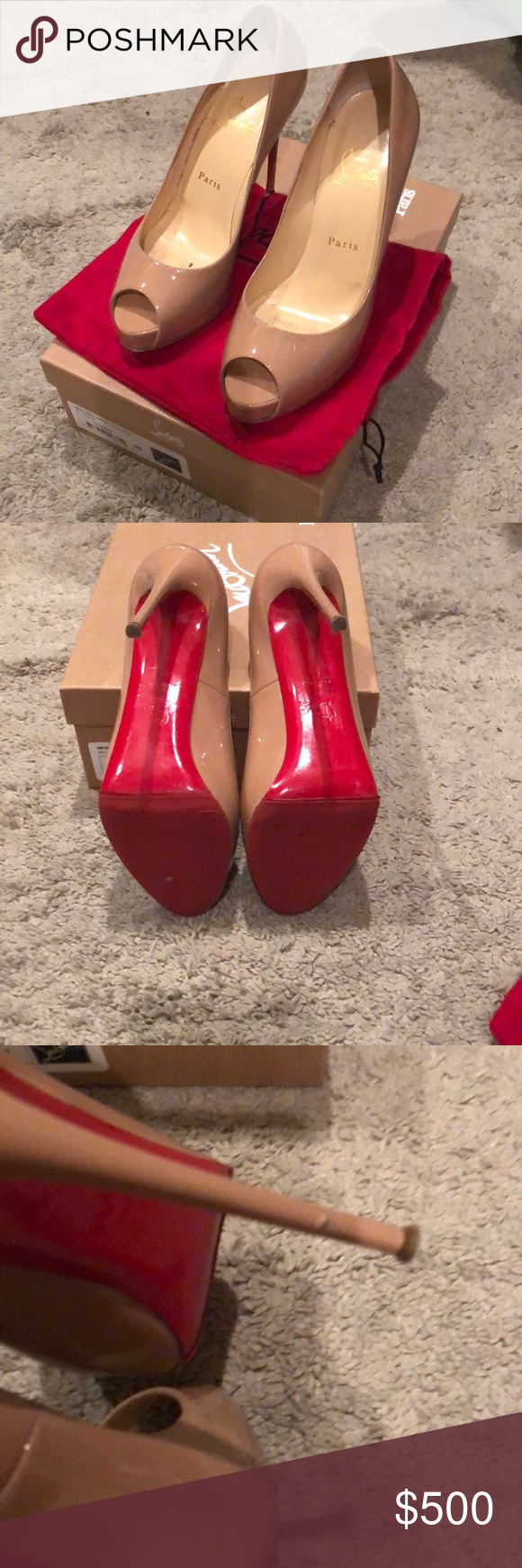 the latest 4c362 49ac4 Louboutin New Very Prive 120 patent PK1A nude pump Pink nude ...