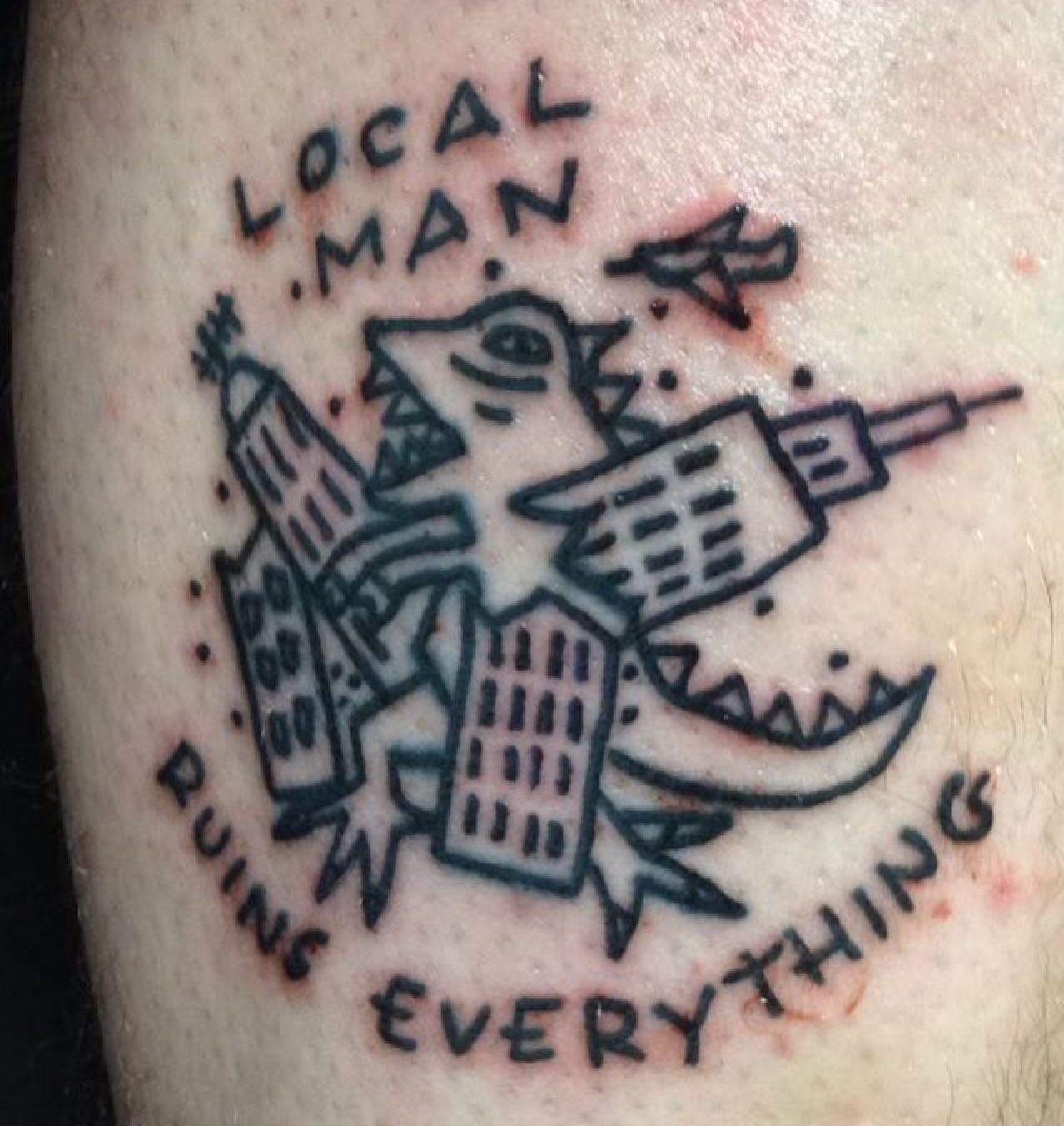 """5eba8e2ee fuckyeahpoppunktattoos: """"""""Submitted by @thelastoneoutpleaseshutthed00r """"  Local man ruins everything. My second wonder years tat. Twitter/Instagram  ..."""