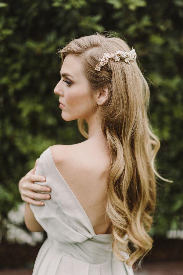 Santa Barbara Bridal Editorial Wavy Wedding Hairwedding