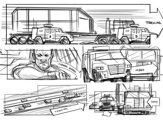 Mad Max Story Board  Storyboarding And Visual Development