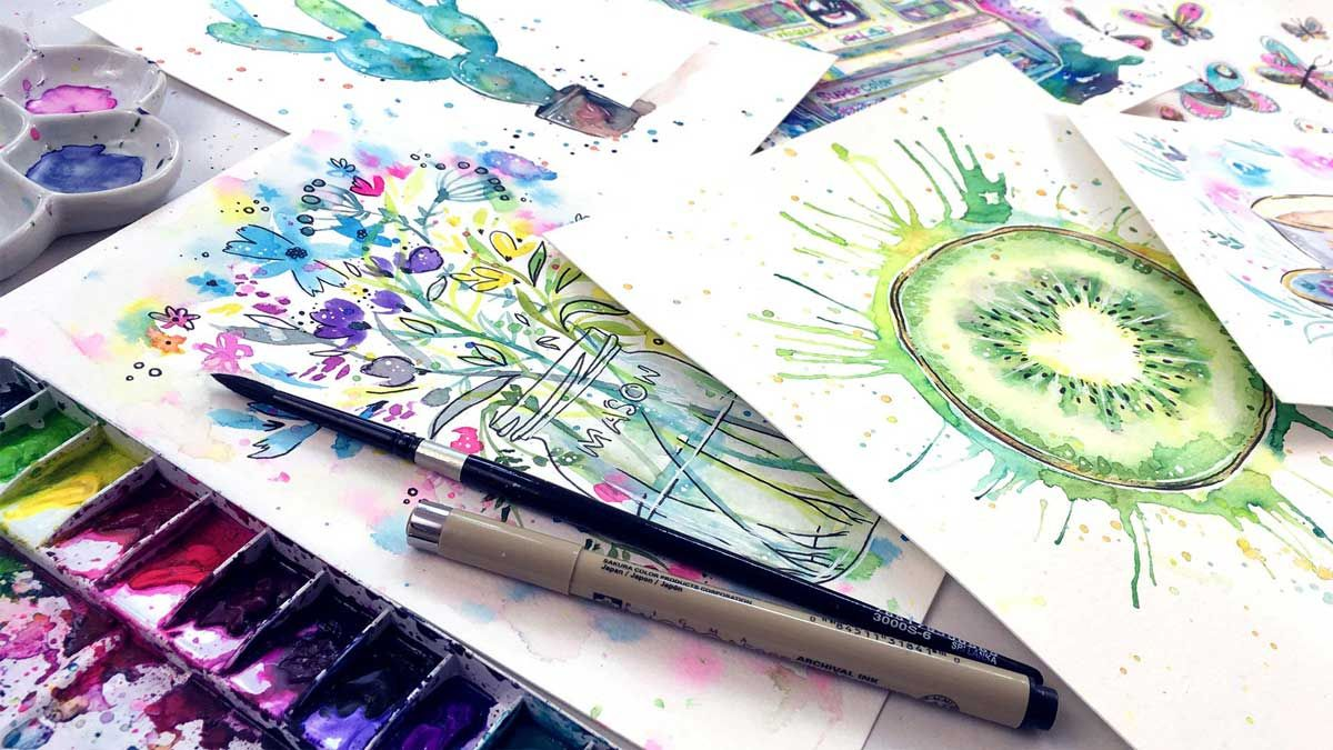 8 free watercolour painting projects for beginners