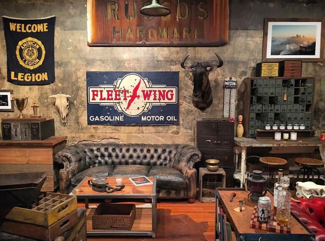 Fleet Wing Gasoline Industrial Livingroom Cafe Seating Lobby Interior