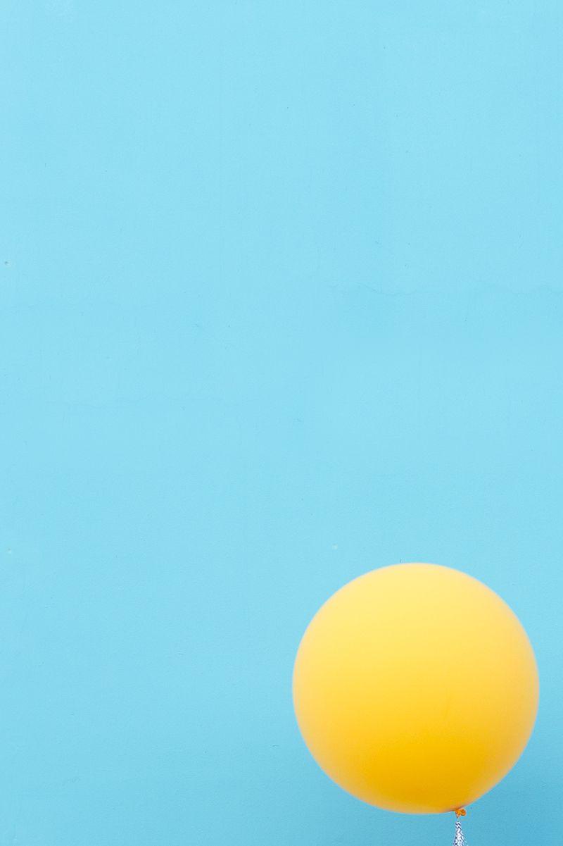 Happy Weekend Minimalist Photography Yellow Balloons
