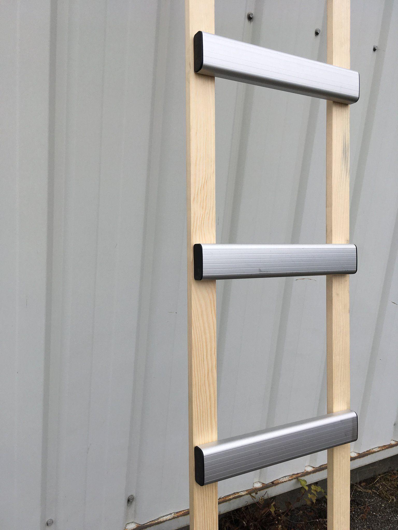 Echelle De Toit Bois Alu Montant En Bois Echelons En Alu Anodise Longueur 3m Echelle De Toit Echelle Escalier Bois Metal