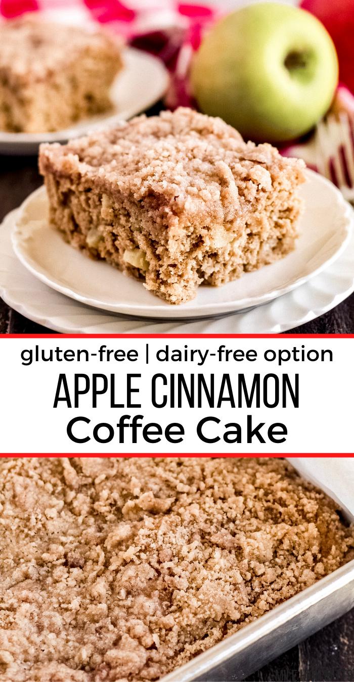 Apple Cinnamon Coffee Cake Gluten Free Dairy Free Option In 2020 Coffee Cake Gluten Free Cakes Apple Coffee Cakes