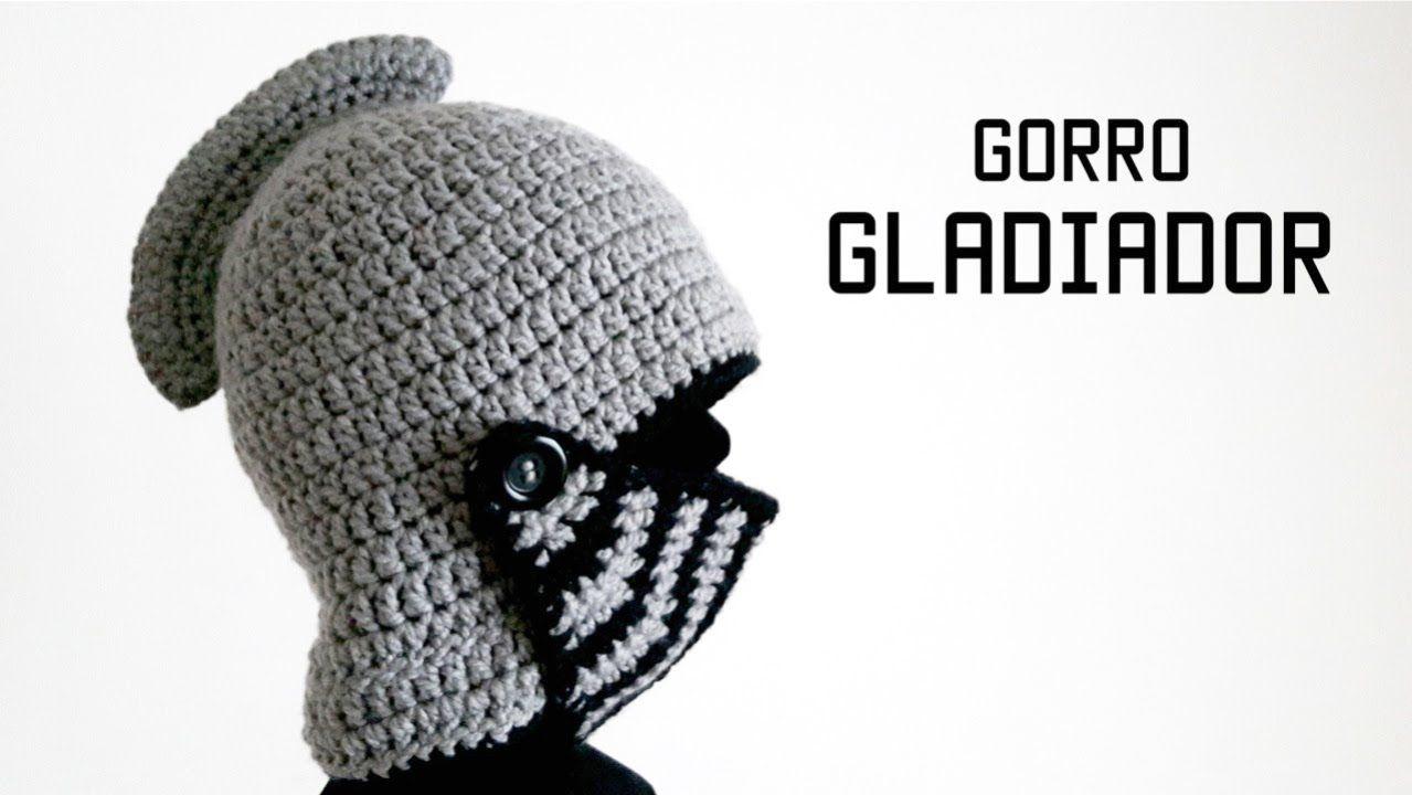 Como hacer un casco de gladiador a crochet (ganchillo). Casco ...