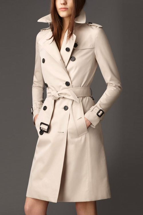 Double Breasted Trench Coat With Belt Black Khaki Off White Trench Coats Women Trench Coat Coats For Women