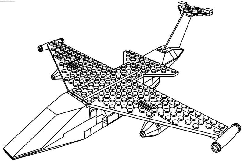 Jet Lego Plane Coloring Page Coloring Pages Printable Coloring Pages Fish Coloring Page