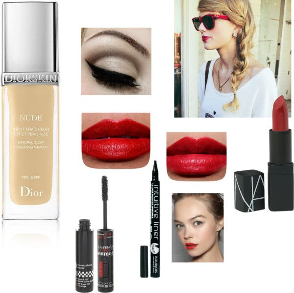 """Red Lips Pale Skin"" by smokeylillys ❤ liked on Polyvore"
