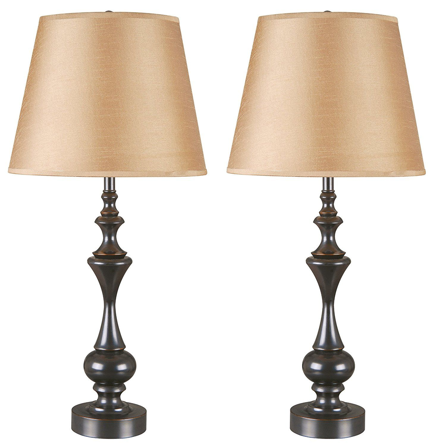 Kenroy Home 32200orb Stratton Ii Table Lamp 2 Pack Visit The Image Link More Details This Is An Affiliate Link An Bronze Table Lamp Lamp Sets Table Lamp