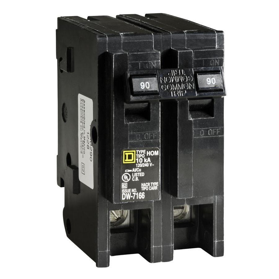 Square D Homeline 90 Amp 2 Pole Main Circuit Breaker Hom290cp In