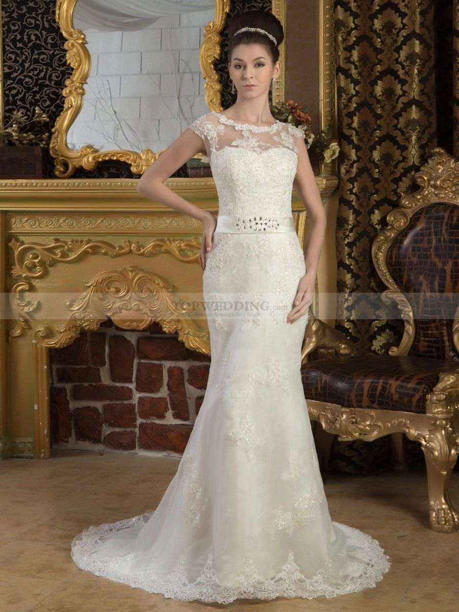Rafella satin and tulle mermaid wedding dress with beading and